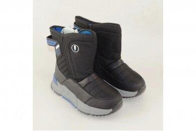 Juodi su užtrauktuku šone Tom.m žieminai batai berniukams su vilnos kailiu 9614 4