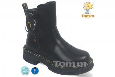 Juodi su užtrauktuku šone Tom.m žieminiai batai mergaitėms su vilnos kailiu 9758