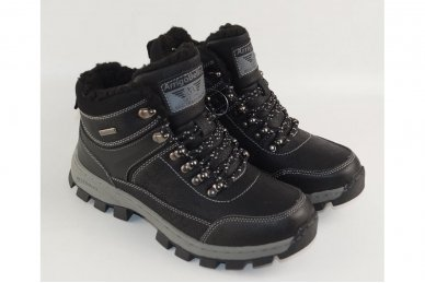 Juodi suvarstomi ArrigoBello vaikiški žieminiai batai su kailiu 8493 3