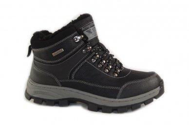 Juodi suvarstomi ArrigoBello vaikiški žieminiai batai su kailiu 8493