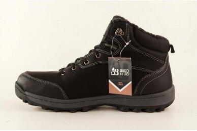 Juodi suvarstomi ArrigoBello vyriški žieminiai batai su kailiu 8394 2