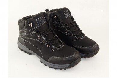Juodi suvarstomi ArrigoBello vyriški žieminiai batai su kailiu 8394 3