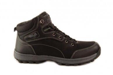 Juodi suvarstomi ArrigoBello vyriški žieminiai batai su kailiu 8394