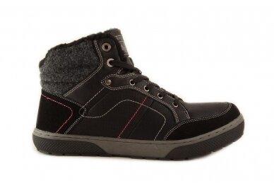 Juodi suvarstomi ArrigoBello vyriški žieminiai batai su kailiu 9080