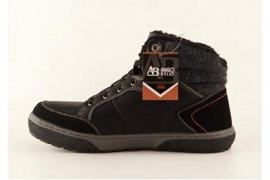 Juodi suvarstomi ArrigoBello vyriški žieminiai batai su kailiu 9080 2