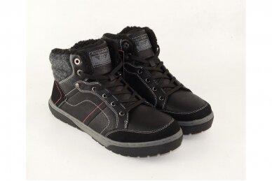 Juodi suvarstomi ArrigoBello vyriški žieminiai batai su kailiu 9080 3