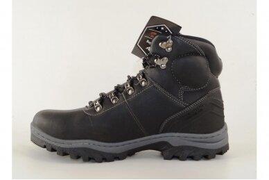 Juodi suvarstomi AxBoxing vyriški žieminiai batai su dirbtiniu kailiu 2