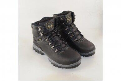 Juodi suvarstomi AxBoxing vyriški žieminiai batai su dirbtiniu kailiu 3