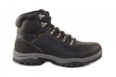 Juodi suvarstomi AxBoxing vyriški žieminiai batai su dirbtiniu kailiu