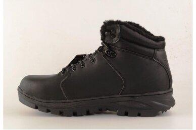 Juodi suvarstomi AxBoxing vyriški žieminiai batai su kailiu 9142 2
