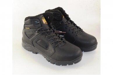 Juodi suvarstomi AxBoxing vyriški žieminiai batai su kailiu 9142 3