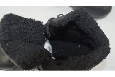 Juodi suvarstomi AxBoxing vyriški žieminiai batai su kailiu 9142 4