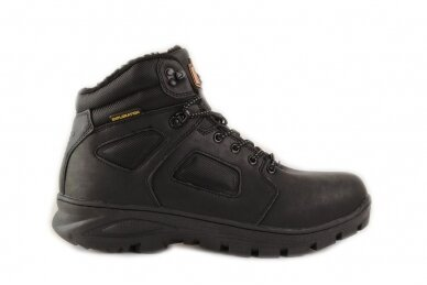 Juodi suvarstomi AxBoxing vyriški žieminiai batai su kailiu 9142