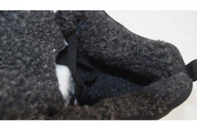 Juodi suvarstomi baltu padu ArrigoBello vyriški žieminiai batai su kailiu 9222 4