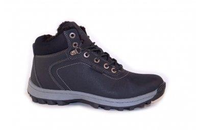 Juodi suvarstomi sportiniu padu Ax-Boxing vyriški žieminiai batai 7445