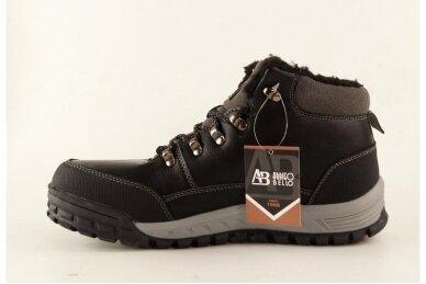 Juodi suvarstomi storu sportiniu padu ArrigoBello vyriški žieminiai batai su kailiu 8438j 2