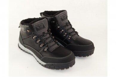 Juodi suvarstomi storu sportiniu padu ArrigoBello vyriški žieminiai batai su kailiu 8438j 3
