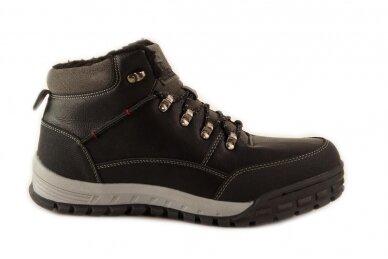 Juodi suvarstomi storu sportiniu padu ArrigoBello vyriški žieminiai batai su kailiu 8438j