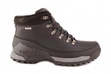 Juodi suvarstomi su vilnos kailiu AXBOXING sportiniai vyriški žieminiai batai 8509