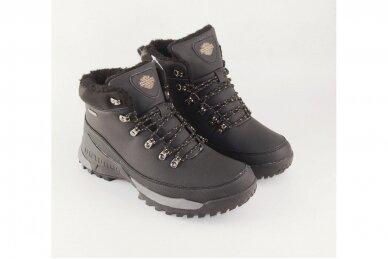 Juodi suvarstomi su vilnos kailiu AXBOXING sportiniai vyriški žieminiai batai 8509 3