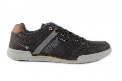 Juodi suvarstomi vyriški laisvalaikio batai sportiniu padu 9593