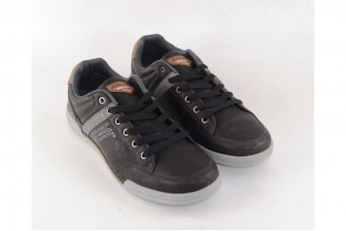 Juodi suvarstomi vyriški laisvalaikio batai sportiniu padu 9593 3