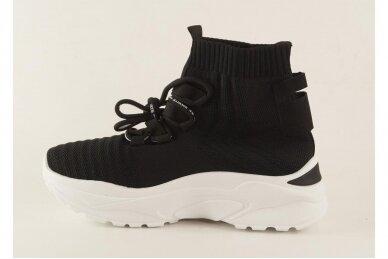 Juodi tampomos medžiagos moteriški laisvalaikio batai 2032 2