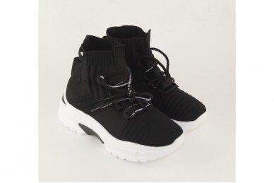 Juodi tampomos medžiagos moteriški laisvalaikio batai 2032 3