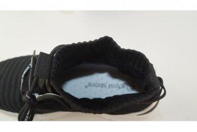 Juodi tampomos medžiagos moteriški laisvalaikio batai 2032 4