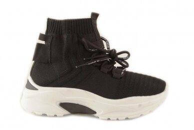 Juodi tampomos medžiagos moteriški laisvalaikio batai 2032