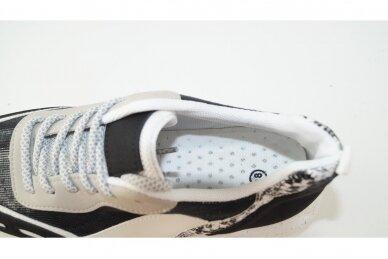 Juodi+blizgantys suvarstomi storu padu moteriški sportiniai batai 4