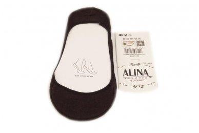 Juodos Aura-via pėdutės su silikonine juostele užkulnyje