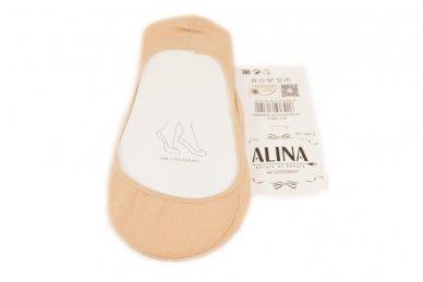 Kūno spalvos Aura-via pėdutės su silikonine juostele užkulnyje