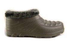 Lengvučiai pilki iš PVA medžiagos įmaunami su kailiuku žieminiai batai 8863