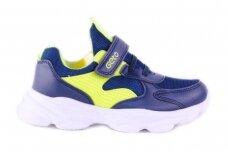 Mėlyni-salotiniai suvarstyti gumyte užsegami lipuku Gelteo sportiniai bateliai berniukams