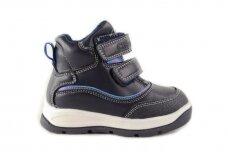 Mėlyni su lipdukais ir vilnos kailiu Clibee žieminiai batai berniukams