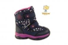 Mėlyni su lipdukais papuošti snaigėmis Tom.m sniego batai mergaitėms su vilnos kailiu 3946