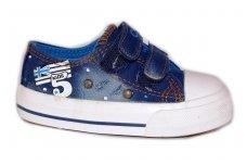 Mėlyni su lipdukais tekstiliniai Clibee sportiniai bateliai