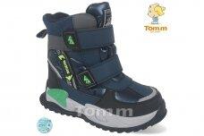 Mėlyni su lipdukais Tomm žieminiai batai berniukams su vilnos kailiu 9417