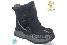 Mėlyni su lipukais Tom.m žieminai batai berniukams su vilnos kailiu 9620