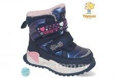 Mėlyni su lipukais Tom.m žieminiai batai su vilnos kailiu mergaitėms 9532