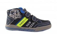 Mėlyni su trim lipukais laisvalaikio batai berniukams