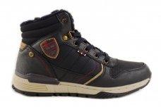 Mėlyni suvarstomi ArrigoBelo žieminiai sportiniai batai su vilnos kailiu paaugliams 9129v