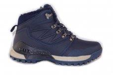 Mėlyni suvarstomi su kailiu Ax-Boxing vyriški žieminiai batai