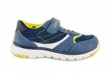 Mėlyni suvarstyti gumyte su lipuku Gelteo laisvalaikio batai berniukams 8618