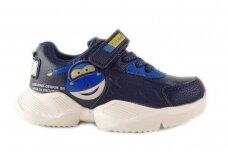 Mėlyni suvarstyti gumyte užsegami lipuku Clibee sportiniai bateliai berniukams 7913