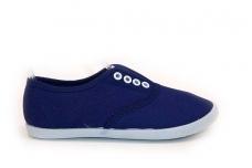 Mėlyni tekstiliniai su guma vaikiški sportiniai bateliai