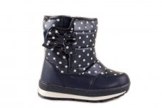 Mėlyni užsegami lipduku Tom.m sniego batai su vilnos kailiu 3573