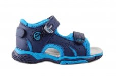Mėlynos su užkulniu ir dviem lipdukais sportinės Clibee basutės 0881