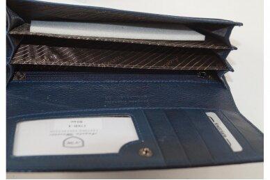 Mėlyna odinė Angela Moretti moteriška piniginė 176b-4 2